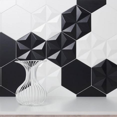Quintessenza serie Origami1 nero matt 26,6x23 cm