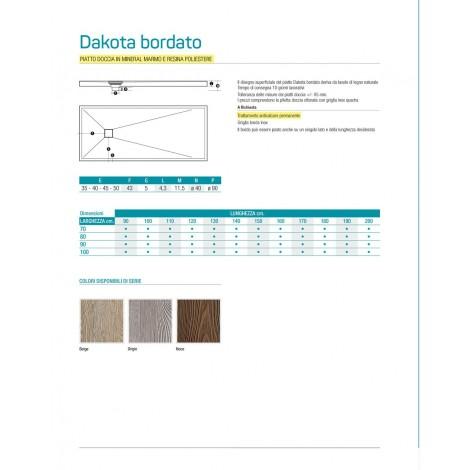 PIATTO DOCCIA  70 / 170  Dakota Bordato