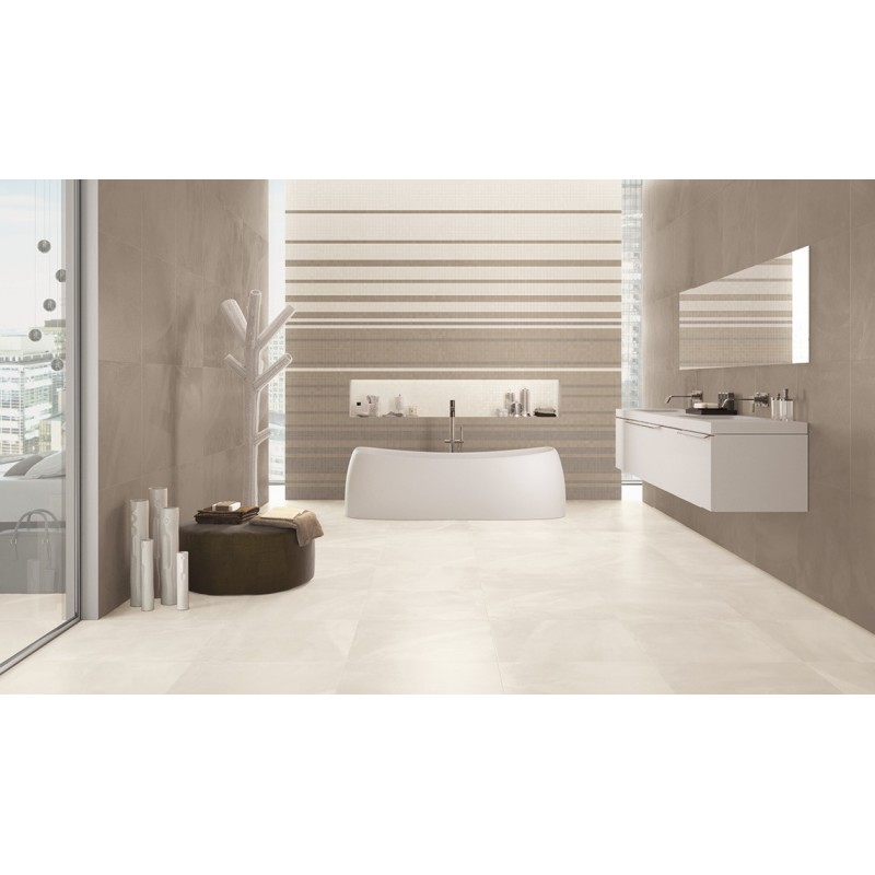 PAVIMENTO LAPPATO  RETTIFICATO Copenhagen Ivory  Serie Architect Resin 60X60