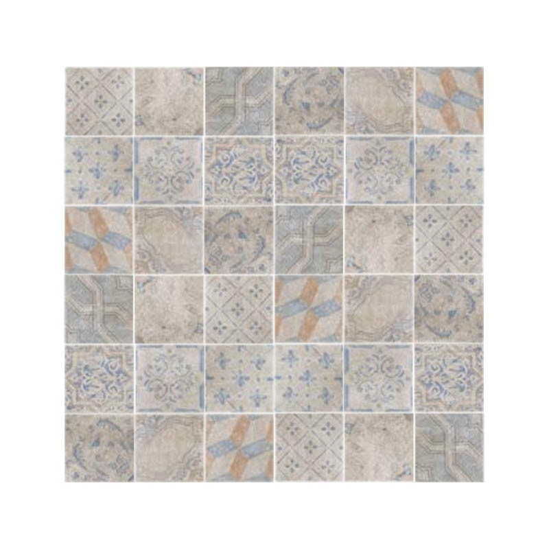 DECORO EOLIE GREY SERIE DUST 20x20