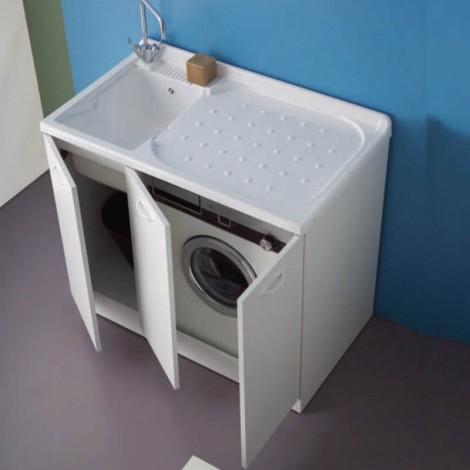 Lavanderia Lady Intra tre ante con vano porta lavatrice dx