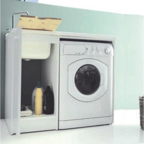 Lavanderia Lady Intra con vano porta lavatrice a vista dx