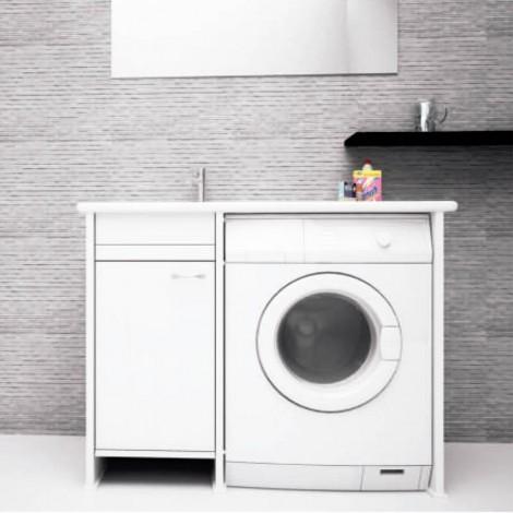 Lavanderia Compatta con vano porta lavatrice a vista L109 con anta