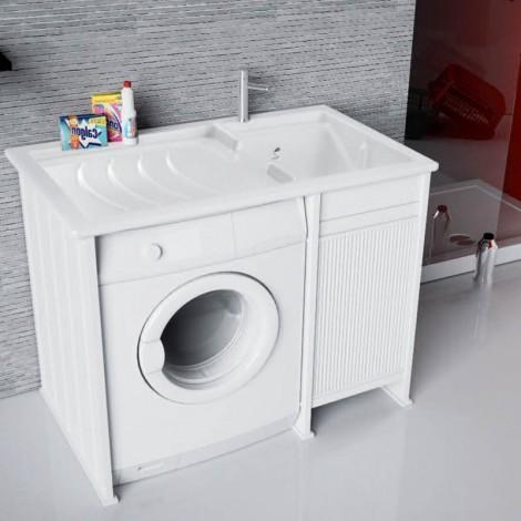 Lavanderia Compatta con vano porta lavatrice a vista L109 con serrandina
