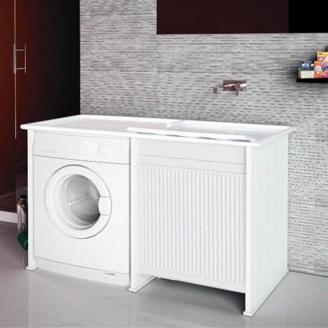 Lavanderia Compatta con vano porta lavatrice a vista L124 con serrandina