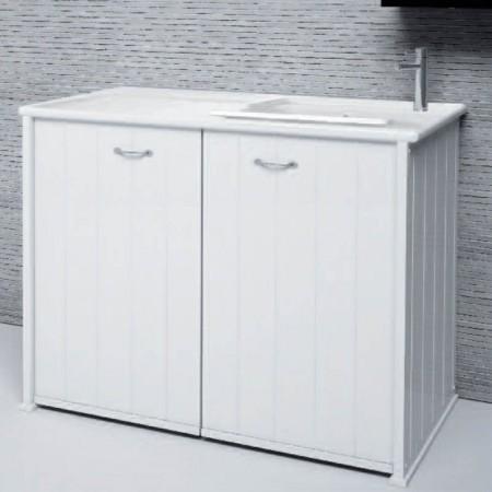 Porta lavatrice chiuso due ante Compatta