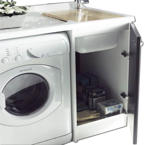 Lavatoio e porta lavatrice a vista Intra Sfera2