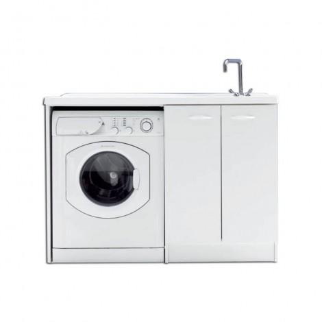 Lavanderia Lady Intra con vano porta lavatrice a vista sx