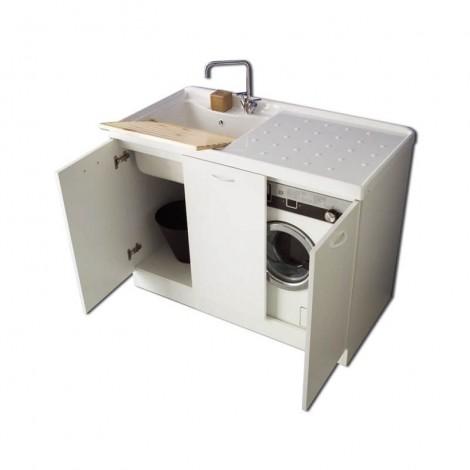 Lavanderia Lady Intra tre ante con vano porta lavatrice sx