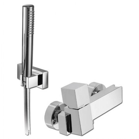 Miscelatore doccia con doccetta supporto orientabile Track