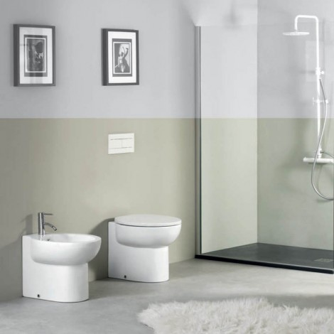 Vaso a terra Axa Serie Prime Wall-Hung WC in ambiente