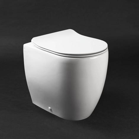 Vaso wc a terra Axa serie Glomp Norim con copriwc termoindurente soft close