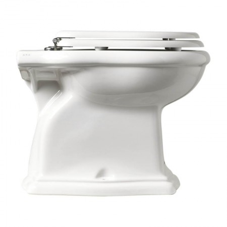 Vaso wc scarico a pavimento Axa serie Contea ceramica bianca