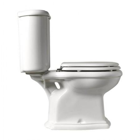 Vaso wc monoblocco a pavimento Axa serie Contea ceramica bianca
