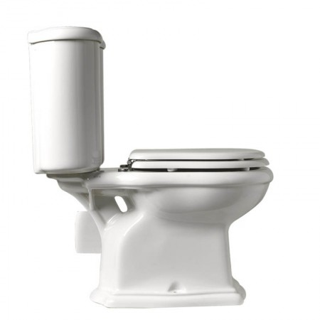 Vaso wc monoblocco a parete Axa serie Contea ceramica bianca
