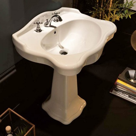 Colonna per lavabo Axa serie Contea ceramica bianca