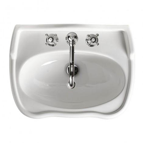 Lavabo per colonna o sospeso Axa serie Contea ceramica bianca lungo 64cm