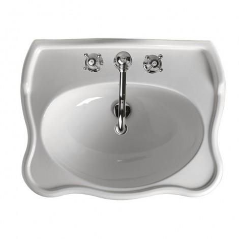Lavabo per colonna o sospeso Axa serie Contea ceramica bianca lungo 72m