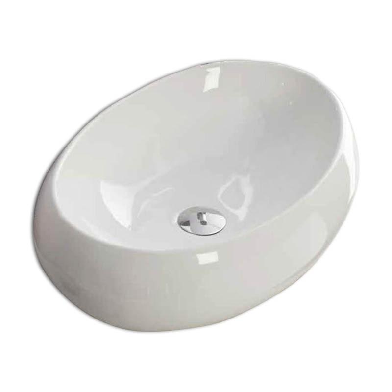 Lavabo da appoggio in ceramica Nuvola 60
