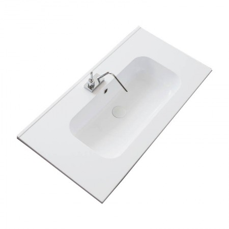 Lavabo da incasso in teck stone Idea