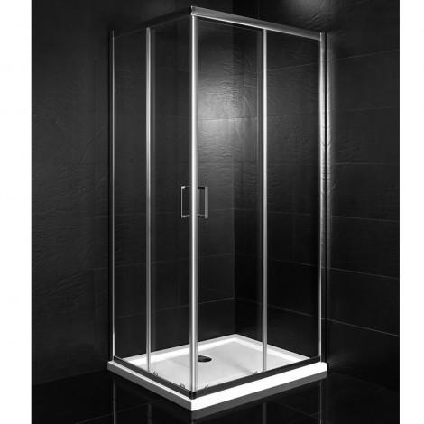 Box doccia due lati scorrevole Square  80x100x190H