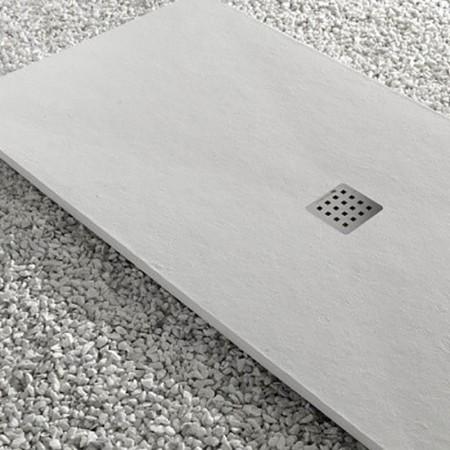 Thermodesign piatto doccia Mythos Ardesia bianco effetto pietra naturale