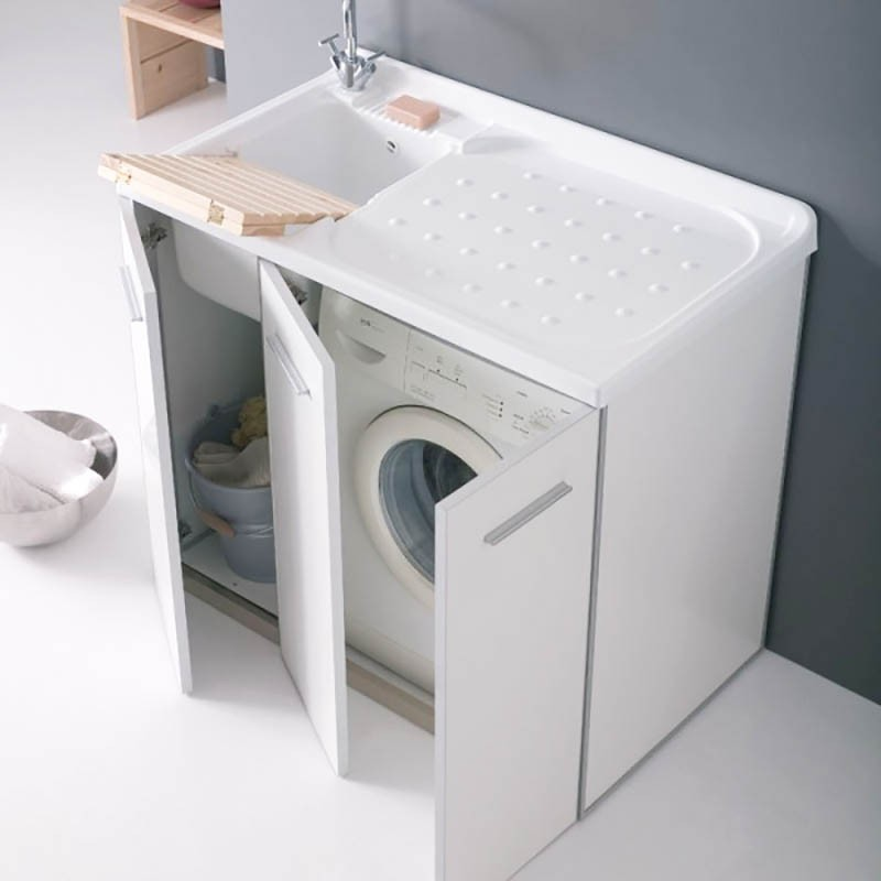 Mobile Lavanderia In Out Arredo Lavanderia Per Esterno Vano Porta Lavatrice Destra