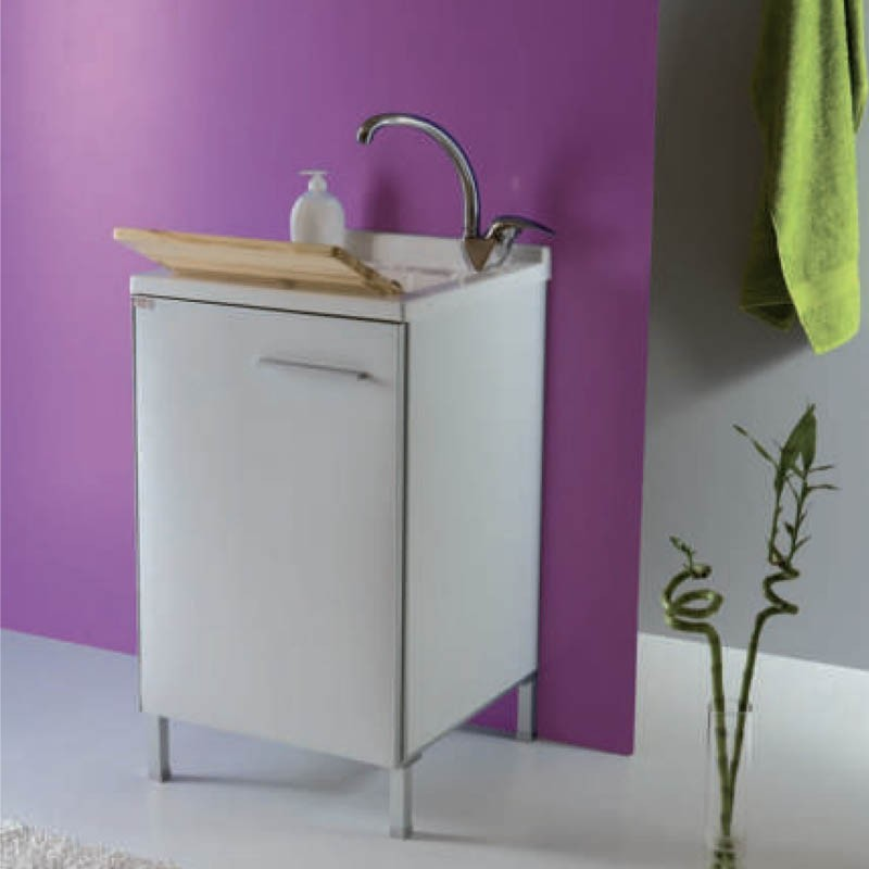 Mobile  lavanderia L50 P50 H83 In-Out colore bianco