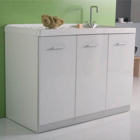 Mobile vano lavatrice con ante intra L107 P61 H90 Luna rossa vano a sx