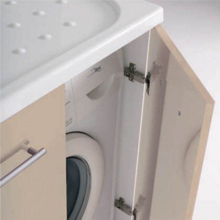 Mobile vano lavatrice con ante intra L107 P61 H90 Luna rossa vano a destra