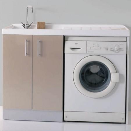 Mobile lavanderia vano lavatrice a vista Intra L124 P65 H90 Luna rossa destra