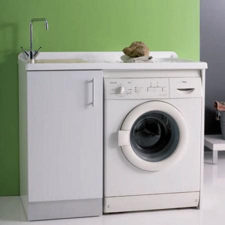 Mobile lavanderia vano lavatrice a vista Intra L107 P61 Luna rossa