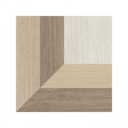 Dimore effetto legno decoro ventaglio 20x20