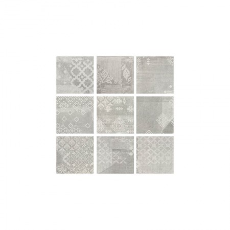 Patchwork Pearl grey 20x20 naturale Gesso