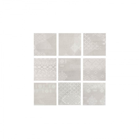 Patchwork white 20x20 naturale Gesso