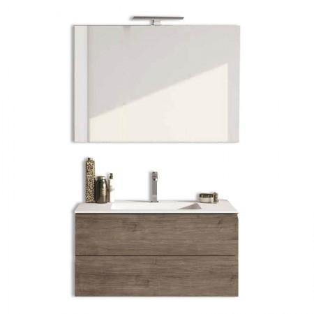 Mobile bagno sospeso 2 cassettoni H48 P51 L105 Flash con specchio e lavabo