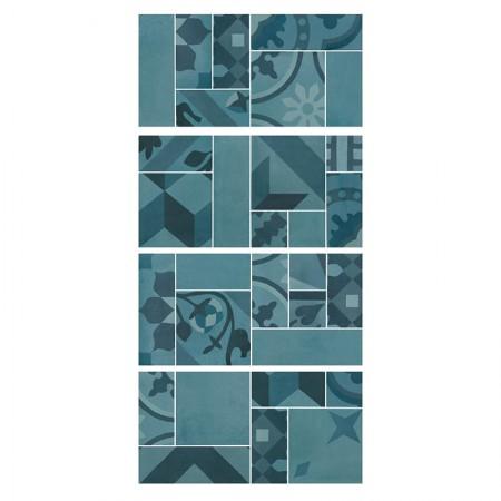 Mosaico Azzurro 19x38 D_segni Blend