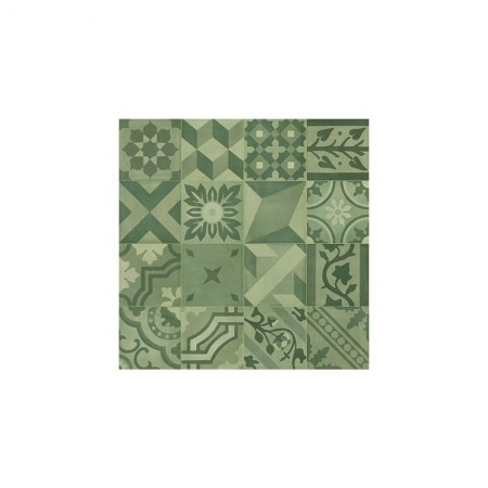 Decoro mix Verde 20x20 D_segni Blend