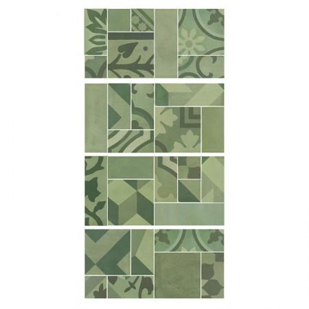 Mosaico Verde 19x38 D_segni Blend