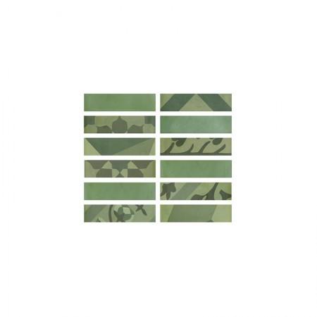 Listello Verde 5x20 D_segni Blend