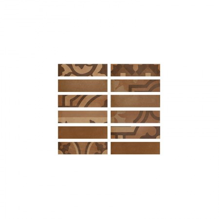Listello Terra 5x20 D_segni Blend