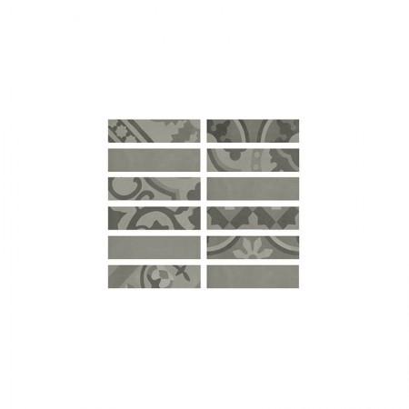 Listello Grigio 5x20 D_segni Blend