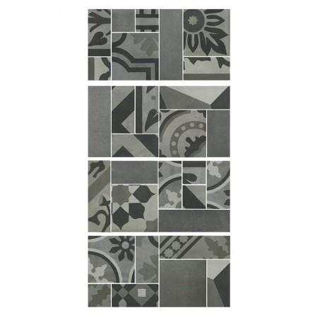 Mosaico Carbone 19x38 D_segni Blend