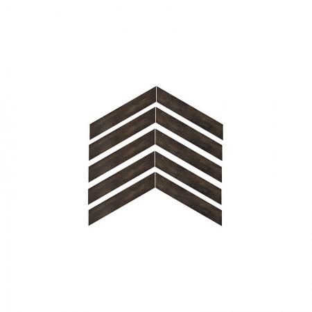 Chevron Nero Bruciato 9,2x54,2 naturale Provoak