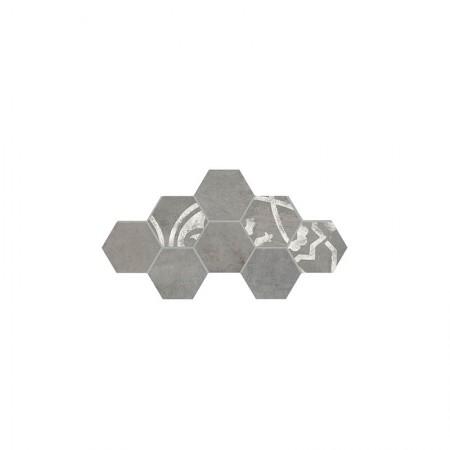 Decoro esagona grigio 19,6x22,6 In Essence