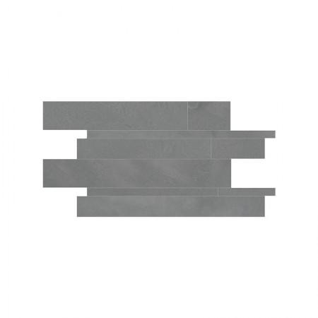 Mosaico listelli London Smoke 30x60 lappato Architect Resin