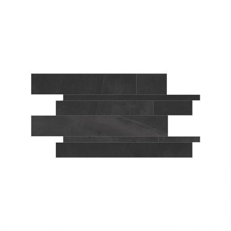 Mosaico listelli Bruxelles Black 30x60 lappato Architect Resin