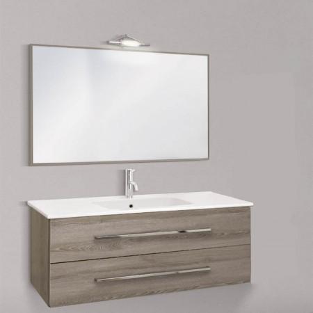 Mobile da bagno sospeso Slim 121 lavabo in ceramica