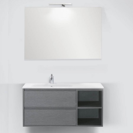 Mobile da Bagno sospeso Smart 105 con specchio e applique led
