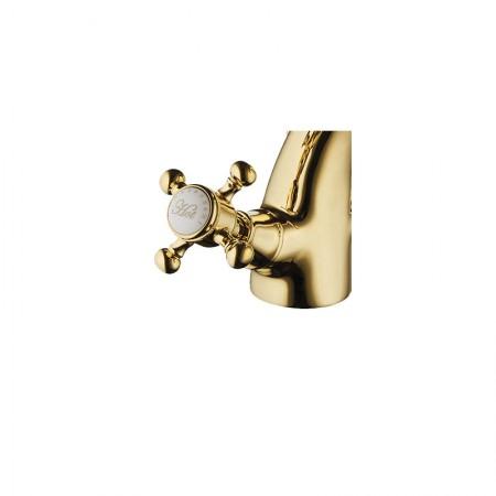 Gruppo vasca c/deviatore supporto doccia flessibile e doccetta Adams Color oro